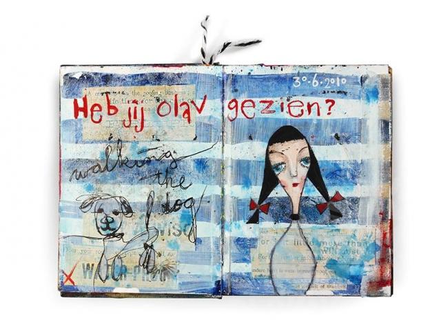 Art Journaling Mixed Media Art by Marieke Blokland Bloknote