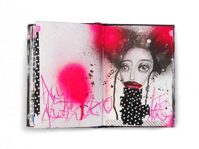Art Journaling Mixed Media Marieke Blokland Bloknote Molotow