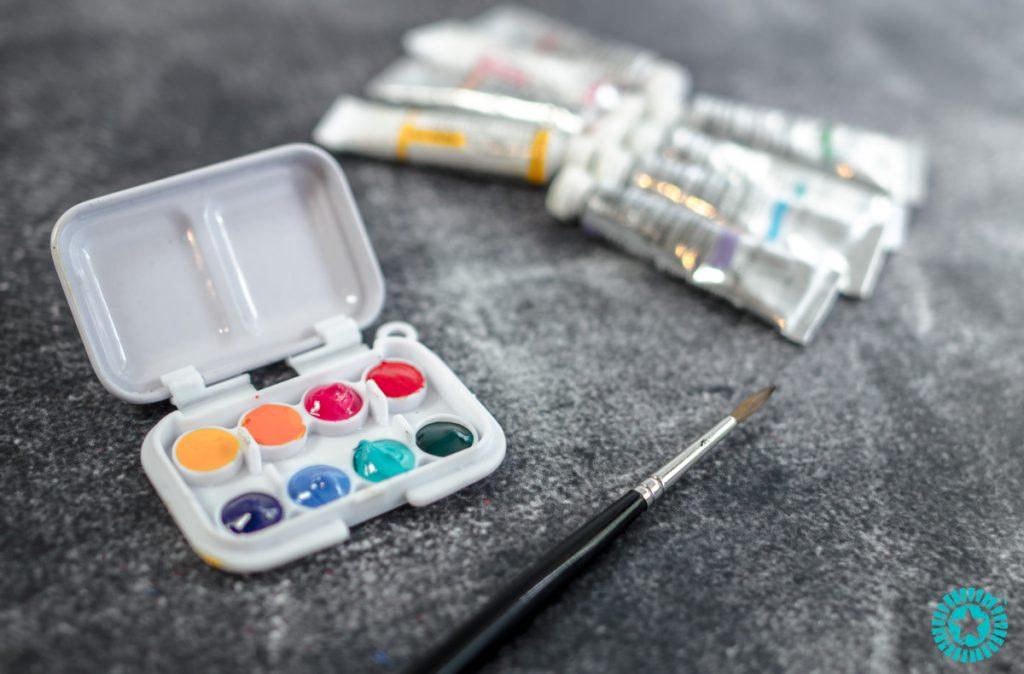 super cute tiny watercolor palette
