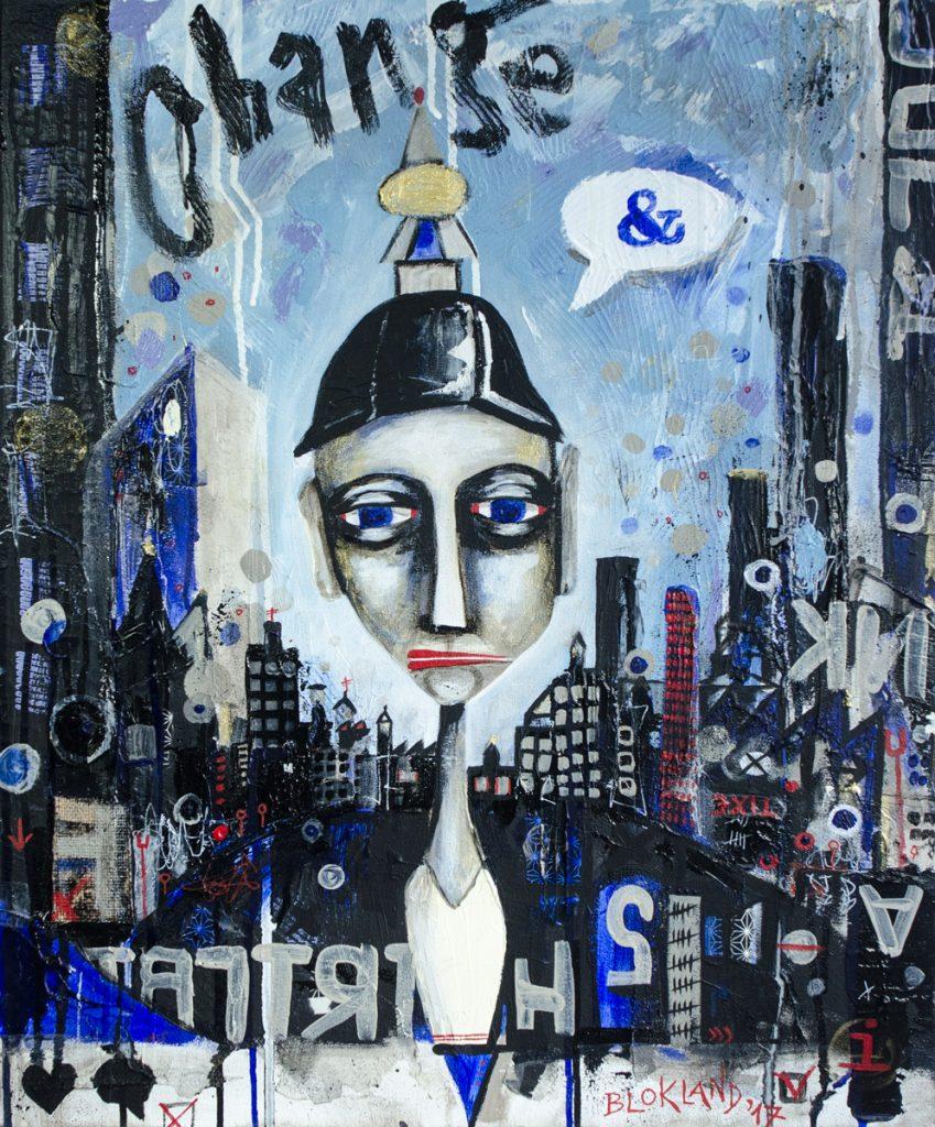Change And - mixed media painting by Marieke Blokland - Bloknote.nl