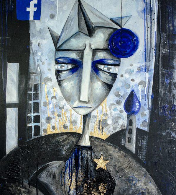 Follow Me Mixed Medi Painting by Marieke Blokland